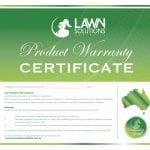 LSA Product Warranty Certificate